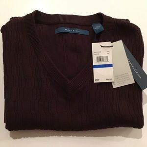 Sweater Vest XL Dark Brown NWT Perry Ellis
